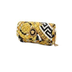 NEW Versace Mini Icon Print Quilted Leather Bag
